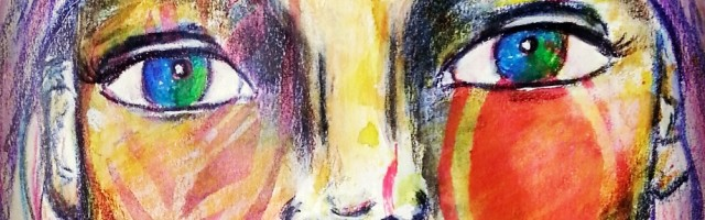 Beautiful watercolor wash by Cristina Parus on creativemag.ro