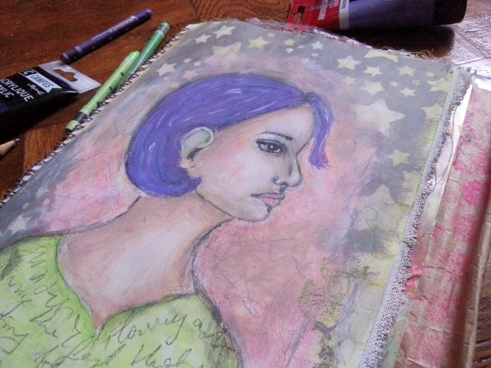 Random faces in my art journal - 15/30 portrait challenge - by Cristina Parus @ creativemag.ro