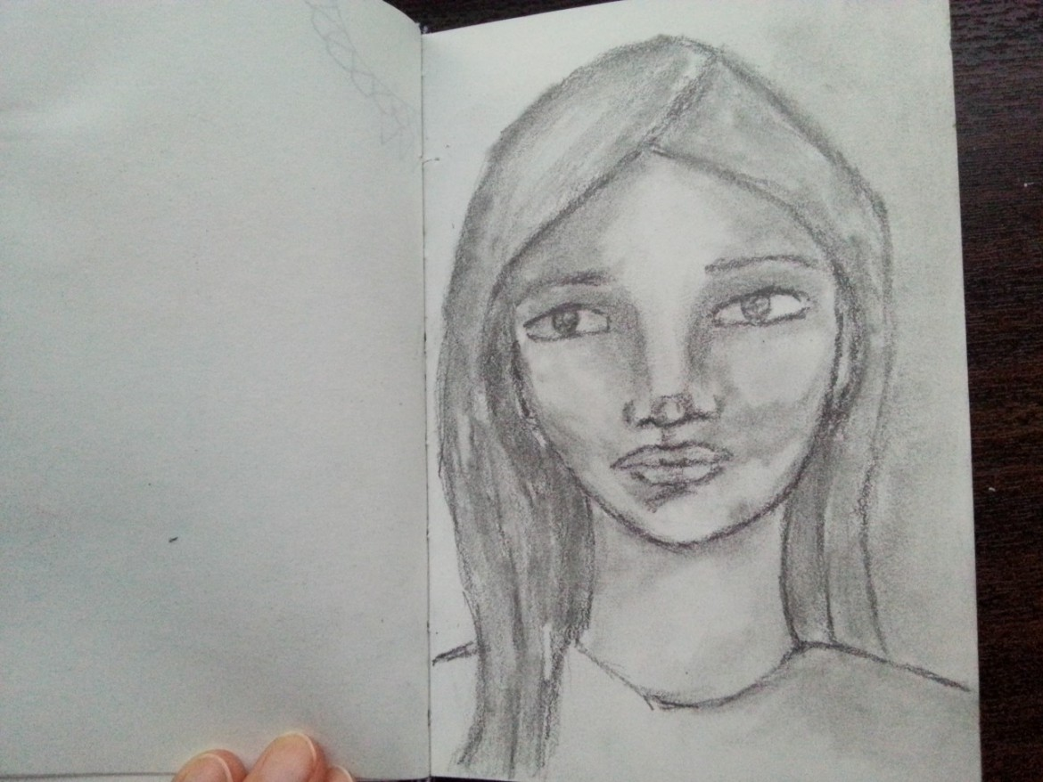 Pencil sketch - little girl - by Cristina Parus @ creativemga.ro