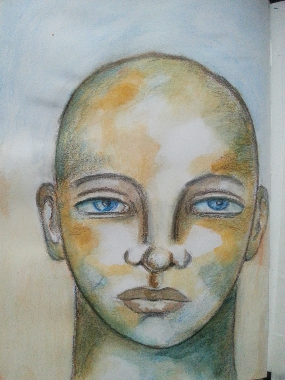 Watercolor Portrait inspired by Pam Carriker's book - by Cristina Parus @ creativemag.ro